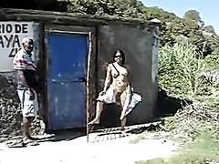 Wife flashing old guy