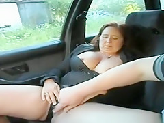 Chubby Mature Car Fingering