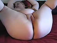 Concupiscent chubby doxy plays with one as well as the other holes using new toys