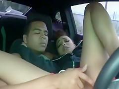 Light Skin Slut Fucked In Car