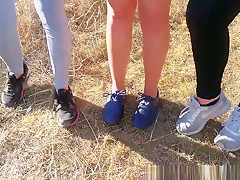 stinky sweaty smelly aryan gym teenfeet sneakers yogapants thights HOT!