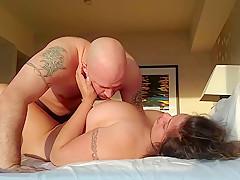 Chubby wife enjoys a morning fuck