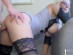 Norwegian pornstar Monica Milf suck 'n get fucked by young stud Jens Jensen
