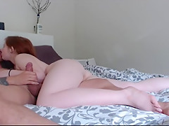 Daddy can't resist Emmarae's 19 year old pussy...