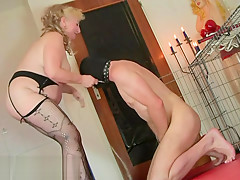 Fat mature mistress piss on her ridicolous slave