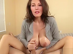 Monica Belucci gives you a handjob