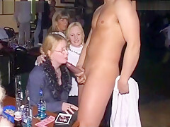 CFNM Amateur Male Stripper Party