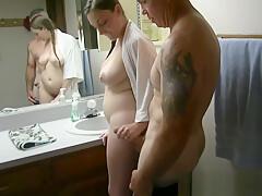Daddy Fucks Everybody in the Bathroom