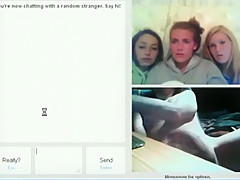 Crazy guy flashes his dick to random girls on omegle