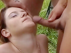 Husband Brought his Wife to Nature to Fuck her with Friends.