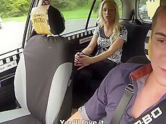 Slutty Passenger Banged In Taxi