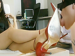Worship My Red Stilettos With Goddess Leyla