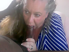 Granny Gives Bbc Blowjob