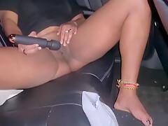 I Gave The Uber Driver A Free Show With A Loud Squirting Orgasm In The Back Seat Of Taxi 4k