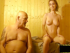 Girl Fucked Old Man In The Sauna