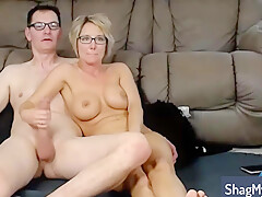 Rimming And Deepthroat Cock Sucking With Blonde Mature