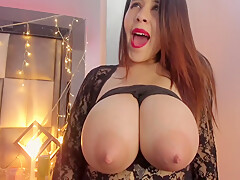Silvias Huge Latina Tits Have An Unlimited Milk Supply With Idoia Durante