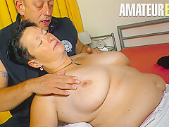 AmateurEuro - Brunette Granny Goes Wild On Hard Sex Session