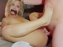 Virgin Feet On Hot Blonde While Giving Blowjob