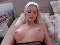 Hot Blonde English Instructor Katy Fucked For Cash