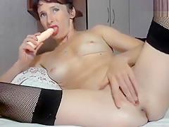 Rusalohkax fucks her ass with dildo