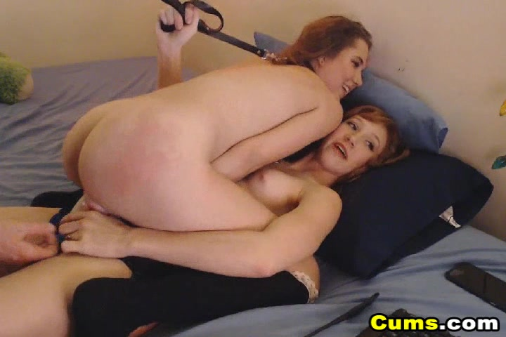 Two Sexy Hot Chick in Dildo Fucking