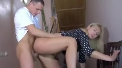 Sex Hungry Middle-Aged mature Gets Doggy-Style Fucked On Stairs