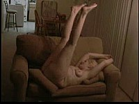 Fat Blonde Granny Takes BBC on Sofa