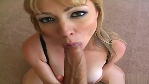 Neighbor cock greedy blonde giving hot blowjob on big cock of camera man