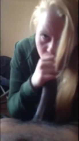 Young 19 year old blonde taking 10 inch BBC deepthroat