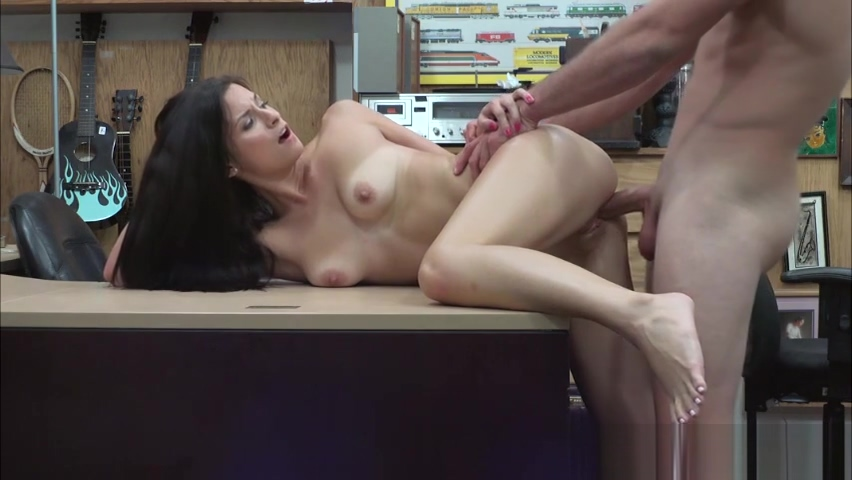 Filthy Alexis Deen swallows a pawnmans cock for money