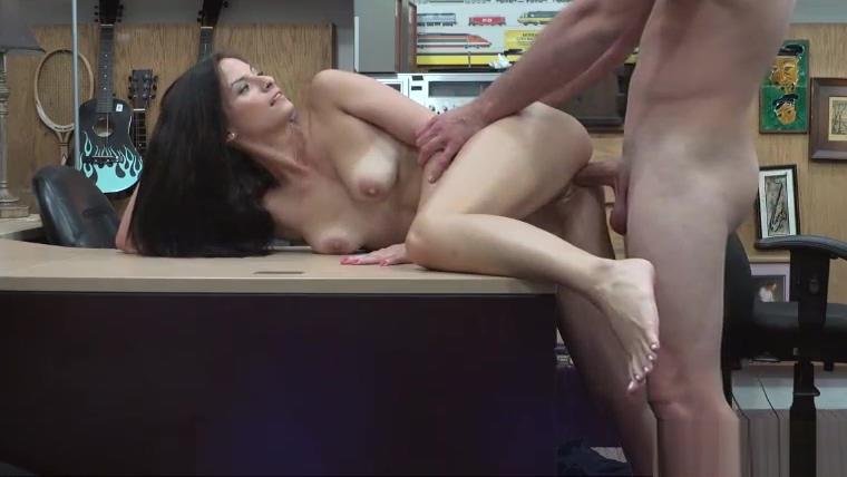 Sexy babe Alexis Deen fucks in pawnshop