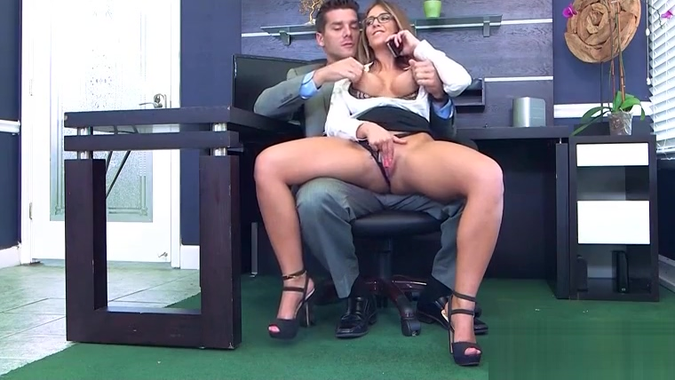 Hard Sex With Big Round Tits Nasty Office Girl (Layla London) video-14