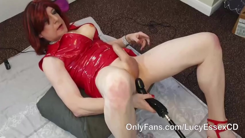 Lucy Essex Cd - Sissy Lucy Gets Fucked Hard By 10 Inch Bbc Dildo On The Fucking Machine
